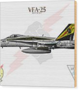 Vfa-25 Fist Of The Fleet Charlie Wood Print