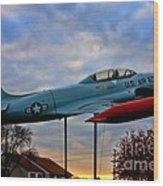 Vfw F-80 Shooting Star Wood Print