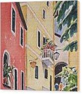 Via G. Matteoti Wood Print by Regina Ammerman