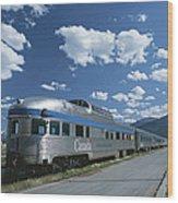 Via Rail Canada Train Waiting At Jasper Wood Print