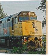 Via Rail Engine Wood Print