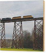 Viaduct Series-spring Wood Print by Cheryl Helms