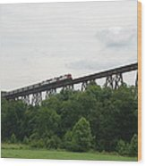 Viaduct Series-summer Wood Print by Cheryl Helms