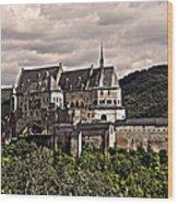 Vianden Castle - Luxembourg Wood Print by Juergen Weiss