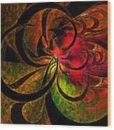 Vibrant Bloom Wood Print
