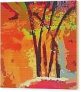 Vibrant Bouquet Wood Print