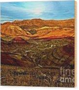 Vibrant Hills Wood Print