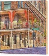 Vicksburg Street Corner Wood Print