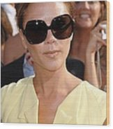 Victoria Beckham At Arrivals Wood Print by Everett