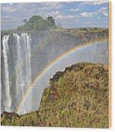 Victoria Falls Wood Print by Tony Beck
