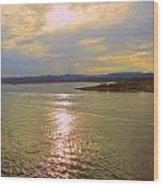 Victoria Harbor Sunset Wood Print