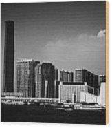 Victoria Harbour View Of Kowloon Tsim Sha Tsui Skyline Including Star Ferry Terminal Hong Kong Wood Print