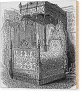 Victorian Bed, 1846 Wood Print