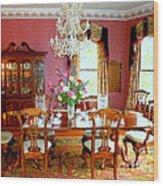 Victorian Dining Wood Print