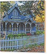 Victorian Home Marthas Vineyard Wood Print
