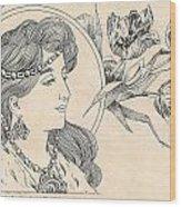 Victorian Lady - 1 Wood Print