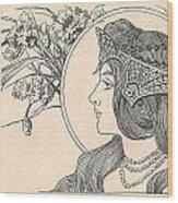 Victorian Lady - 2 Wood Print