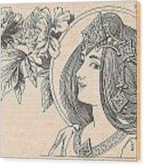 Victorian Lady - 4 Wood Print