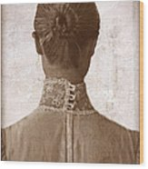 Victorian Lady From Behind Wood Print