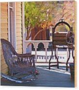 Victorian Porch Wood Print