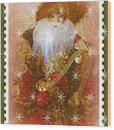 Victorian Santa Wood Print