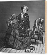 Victorian Woman With Furs C. 1853 Wood Print