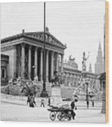 Vienna Austria - Parliament Building - C 1926 Wood Print
