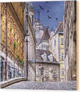 Vienna Cobblestone Alleys And Forgotten Streets Wood Print