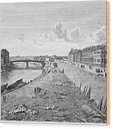Vienna: Danube, 1821 Wood Print