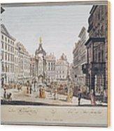 Vienna: Hohemarkt, 1793 Wood Print