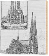 Vienna: Votive Church Wood Print