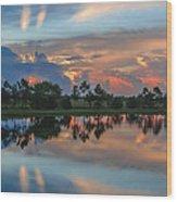 Viera Sunrise Wood Print