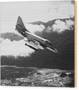 Vietnam War: A4 Skyhawk Wood Print