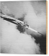 Vietnam War: Crusader Jet Wood Print