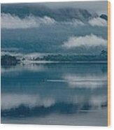 View At Sunset From The Lake Hotel In Killarney Ireland Wood Print