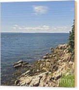 View From Bass Harbor Light Wood Print