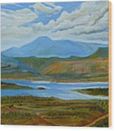 View From Chimney Rock Wood Print