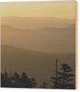 View From Clingmans Dome Wood Print