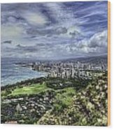 View From Diamond Head Wood Print