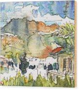 View From My Balcony In El Albir Wood Print