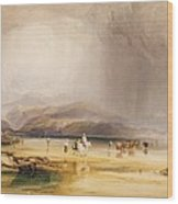 View From Snowdon From Sands Of Traeth Mawe Wood Print