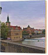 View From The Charles Bridge Revisited Wood Print