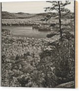 View From The Top Wood Print