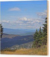 View From Top Of Cannon Mountain Wood Print
