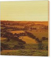 View From Uisneach, Mullingar, Co Wood Print