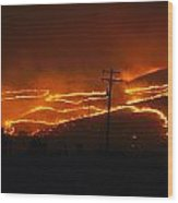 View Of A Forest Fire Near Boise, Idaho Wood Print