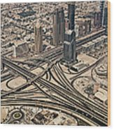 View Of Burj Khalifa Wood Print