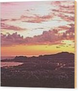 View Of Cabo San Lucas And Tip Of Baja Wood Print