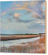View Of Charleston Rainbow  Wood Print by Jenny Ellen Photography