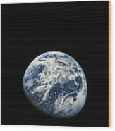 View Of Earth Taken From The Aollo 8 Wood Print
